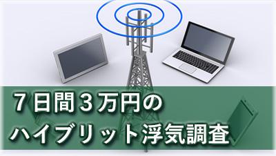 探偵岐阜 浮気調査岐阜 7日間3万円のハイブリット浮気調査